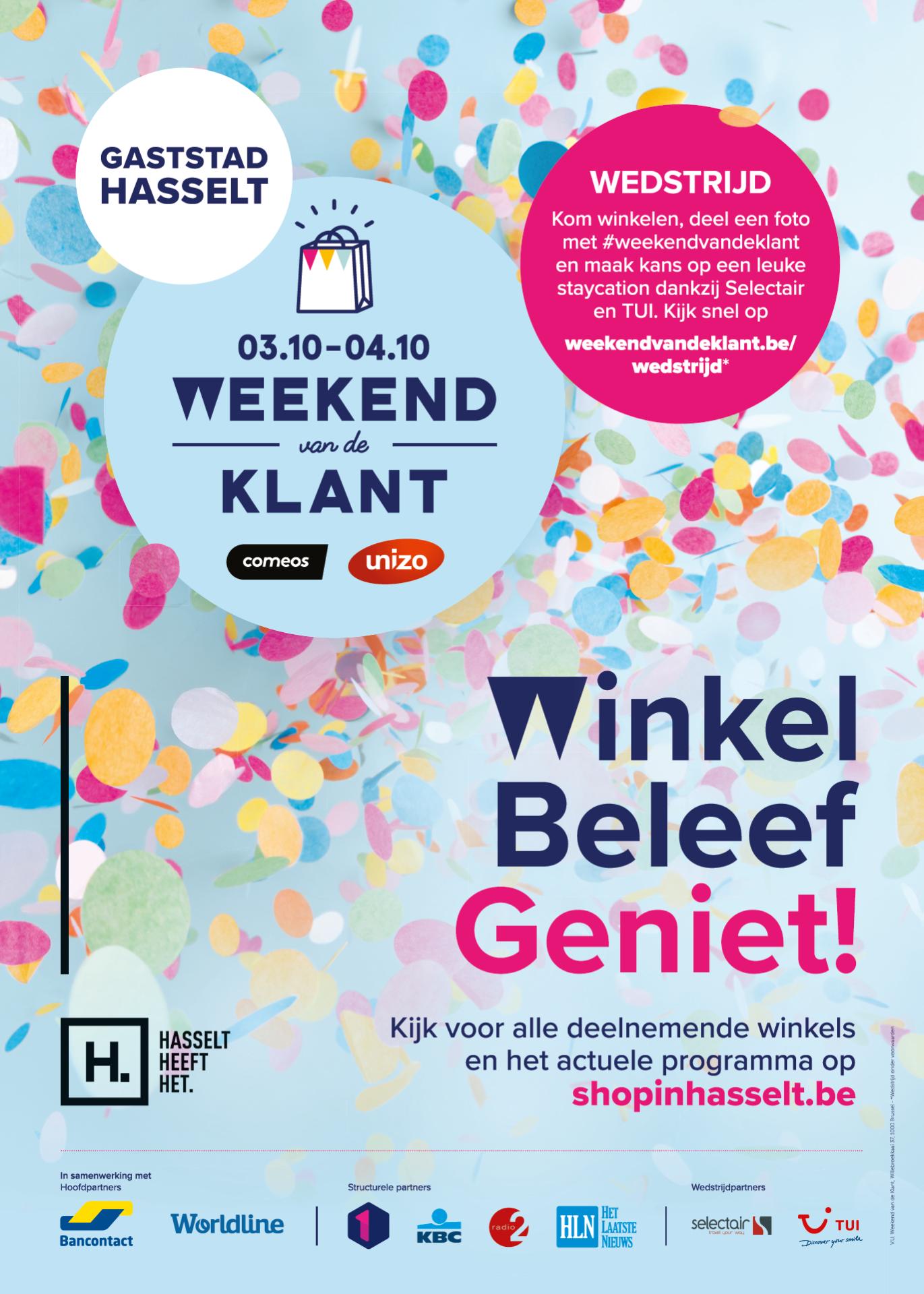 affiche Hasselt_Weekend van de Klant 2020